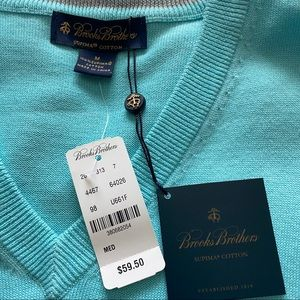 NWT Brooks Brothers Supima Sweater Vest | Medium